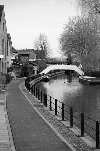 De kwakelbrug in Harmelen over de Oude Rijn