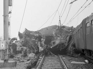 ravage bij de treinramp bij Harmelen in 1962